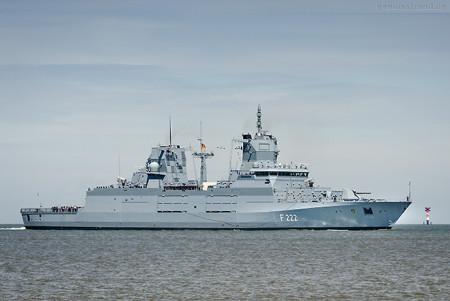 Ankunft Wilhelmshaven: Neubau Fregatte BADEN-WÜRTTEMBERG (F 222)