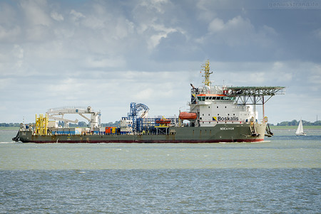 Wilhelmshaven Schiffe: Kabelleger NDEAVOR, Boskalis (Cable Laying Vessel)