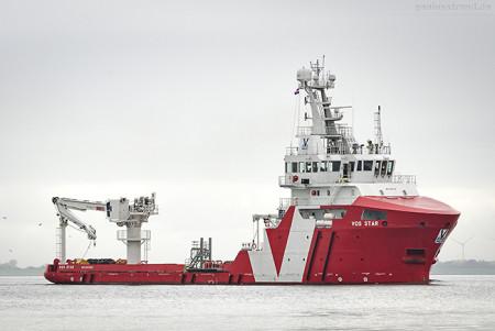 WILHELMSHAVEN: Offshore-Versorger VOS STAR (L 68 m)