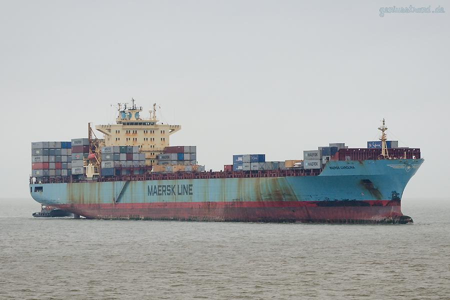 Schiffsankünfte JadeWeserPort: Containerschiff MAERSK CAROLINA (L 292 m)