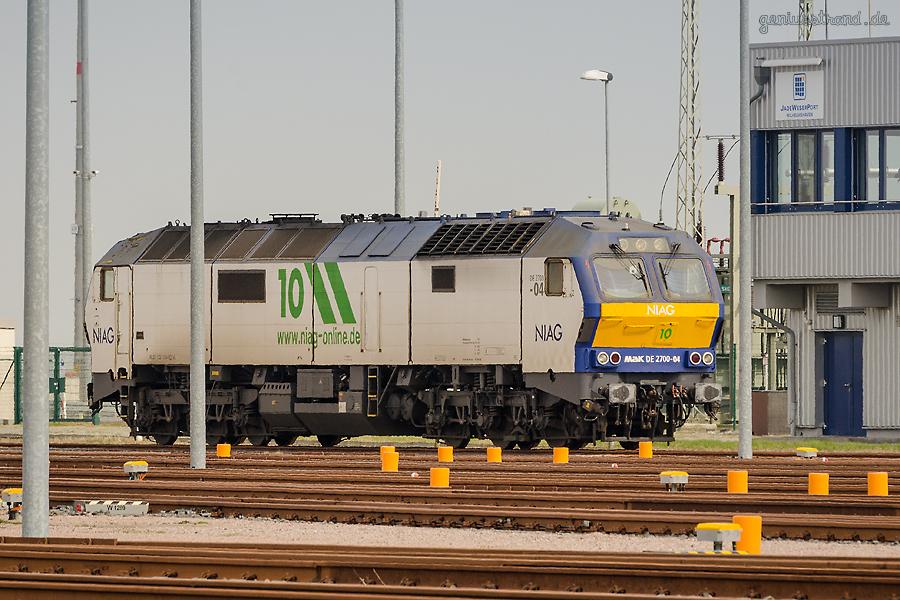 Vorstellgruppe JadeWeserPort: Diesellok (MaK DE 2700-04) der NIAG-Logistik aus Moers