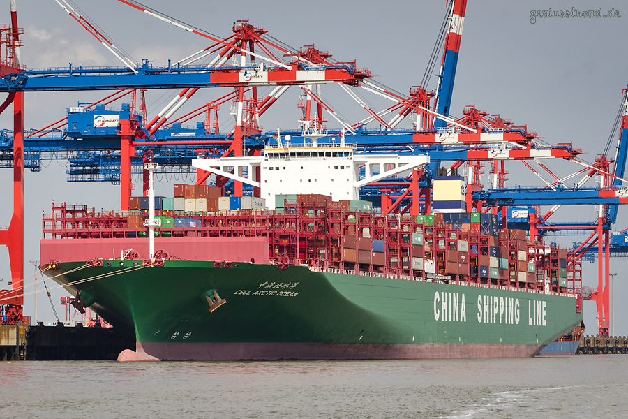 CHINA SHIPPING LINE: CSCL ARTIC OCEAN (L 400 m) am JadeWeserPort