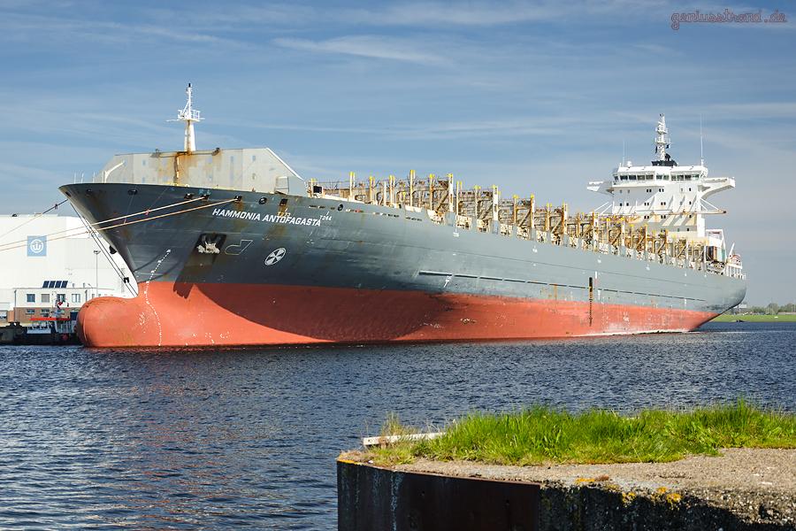WILHELMSHAVEN: Containerschiff SONGA ANTOFAGASTA (L 224 m) am Hannoverkai