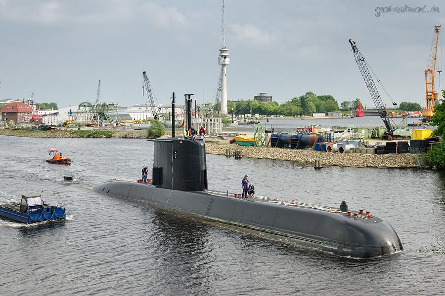 WILHELMSHAVEN: U-Boot S 42 der Typklasse 209/1400 (TKMS)