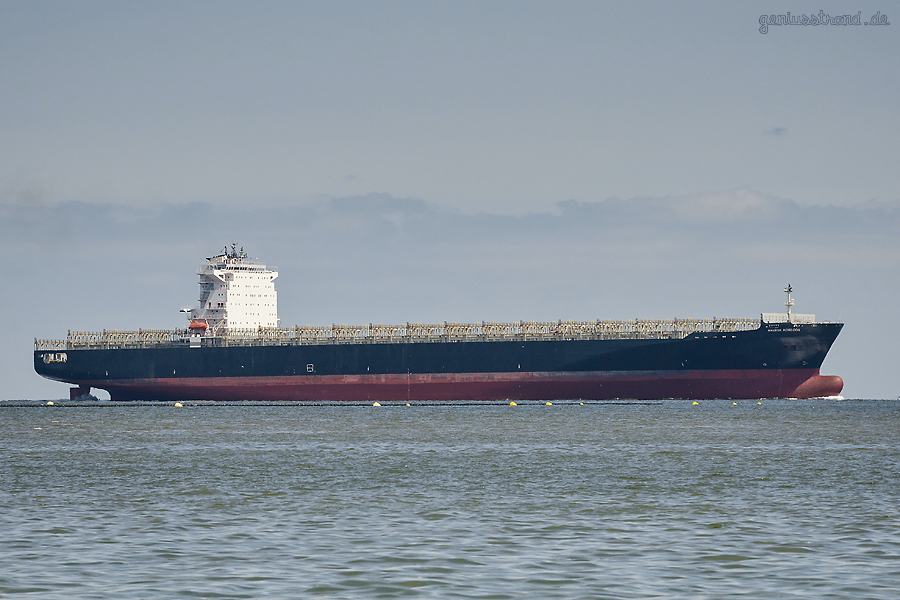 Container Terminal Wilhelmshaven (CTW): Containerschiff MAERSK KOWLOON (L 299 m)