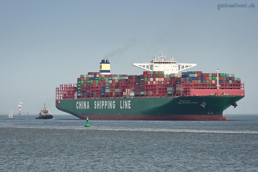 Erstanlauf der CSCL ATLANTIC OCEAN (L 400 m) am Container Terminal Wilhelmshaven (CTW)