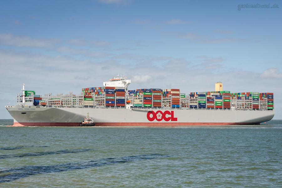 Baureihe OOCL 21.100-TEU-TYP (OOCL Hong Kong) von OOCL am Containerhafen JadeWeserPort