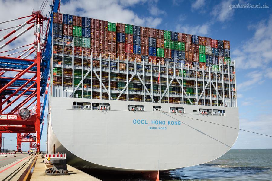 WILHELMSHAVEN: Weltgrößte Containerschiffe nach TEU/tdw am JadeWeserPort