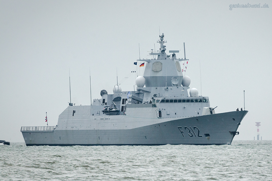 WILHELMSHAVEN: Fregatte KNM OTTO SVERDRUP (F 312) der norwegischen Marine