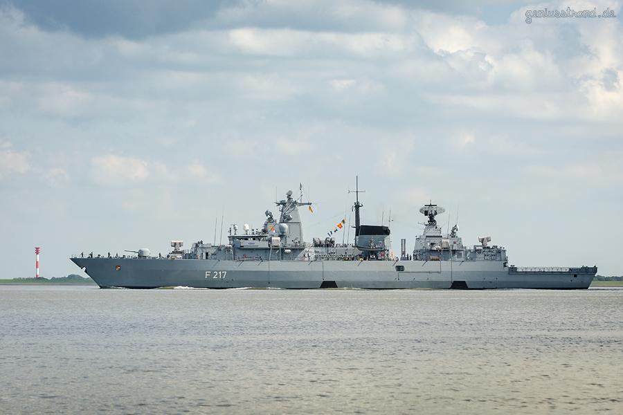WILHELMSHAVEN: Fregatte BAYERN (F 217) zur Ausbildung in die Ostsee unterwegs