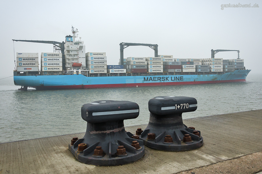 CONTAINERHAFEN WILHELMSHAVEN: Containerschiff MAERSK NEWHAVEN (L 210 m) ex SUSANNE SCHULTE