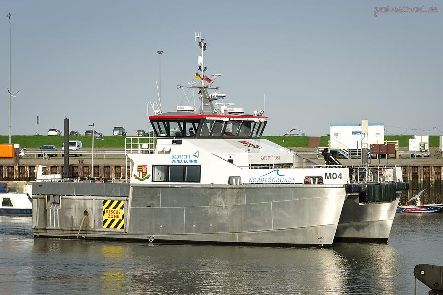 MAINPRIZE OFFSHORE 4 (MO4) fährt zum Offshore-Windpark Nordergründe