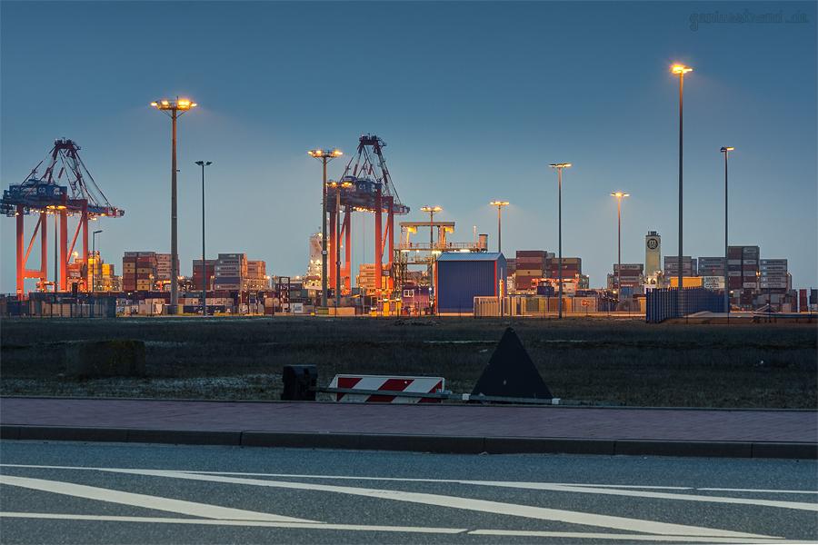 Bilder JadeWeserPort: Containerschiff MSC BEATRICE (L 366 m) an der Kaje