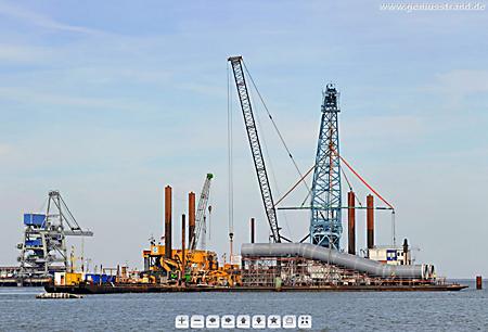 Kraftwerkskühlung GDF Suez PP-Rohr Schwanenhals