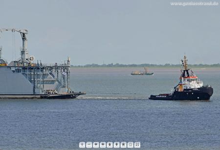Panoramabild vom Schwimmdock Dock B aus Kiel