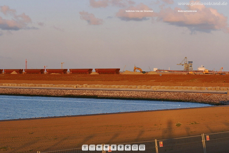 Jadeweserport Wilhelmshaven Panoramabild Norddamm