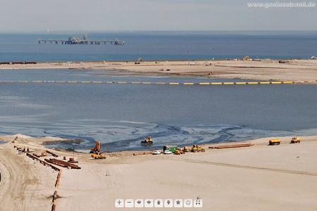 Juli 2010 - Megapixel Panorama von der JadeWeserPort Baustelle