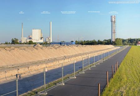 Panoramabild von der JadeWeserPort Baustelle in Wilhelmshaven