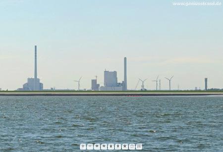 Panoramafoto von der JadeWeserPort Baustelle (Norddamm) in Wilhelmshaven