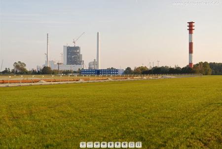 360 Grad Panoramabild JadeWeserPort Baustelle