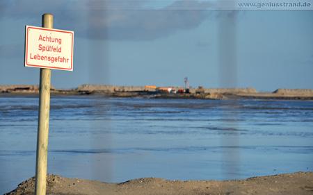 Hintergrundbilder JadeWeserPort Warnschild Achtung Spülfeld Lebensgefahr