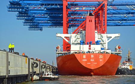 Hintergrundbild JadeWeserPort Eurogate Containerbrücken CTW