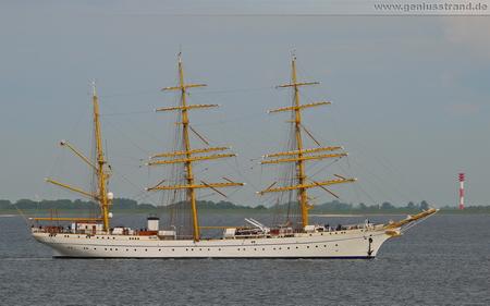 Segelschulschiff Gorch Fock mit Ziel Wilhelmshaven - Hintergrundbild