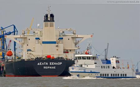 Hintergrundbild - Hafenrundfahrt mit der MS Harle Kurier durch den Ölhafen