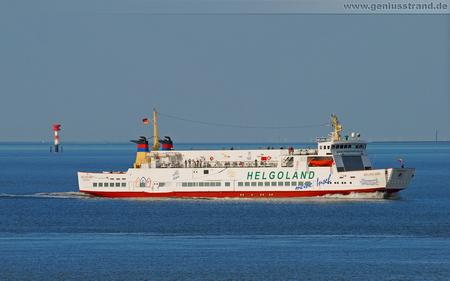 Hintergrundbild - Die Helgoland-Fähre der Reederei AG Ems mit Zielhafen Wilhelmshaven