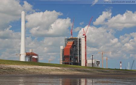 Hintergrundbild - GDF Suez Kraftwerksbaustelle in Wilhelmshaven
