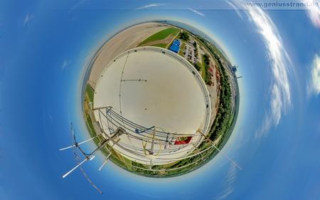 Hintergrundbild - Little Planet Panorama - JadeWeserPort und Kraftwerksneubau