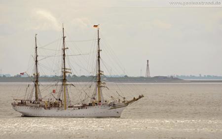 Hintergrundbild - Großsegler Vollschiff Sørlandet aus Norwegen in Wilhelmshaven