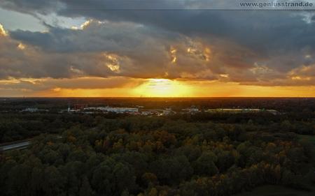 Hintergrundbilder Wilhelmshaven Herbstlandschaft Sonnenuntergang Autobahn JadeWeserPort Flutstraße