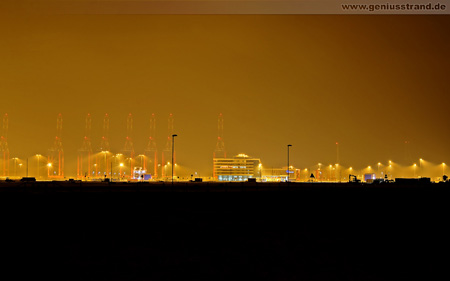 Wilhelmshaven Hintergrundbild JadeWeserPort Nachtaufnahme Download
