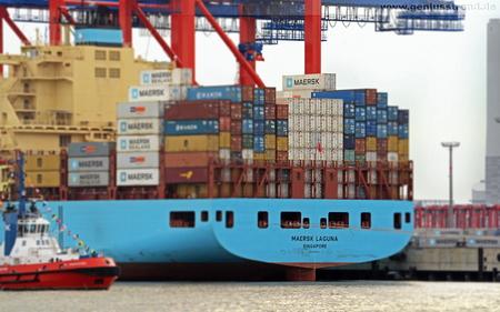 Hintergrundbild JadeWeserPort Containerschiff Maersk Laguna