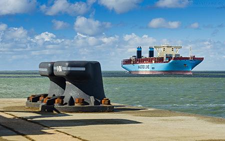 Hintergrundbilder Wilhelmshaven JadeWeserPort Triple-E-Klasse Containerschiff Wallpaper Download Gratis Kostenlos