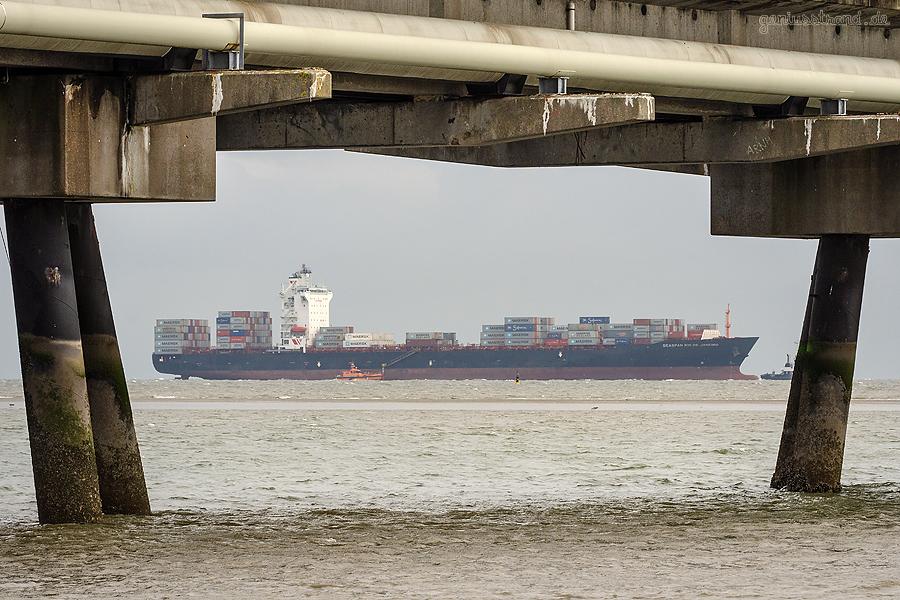 SCHIFFSANKÜNFTE JADEWESERPORT: Containerschiff SEASPAN RIO DE JANEIRO (L 260 m)