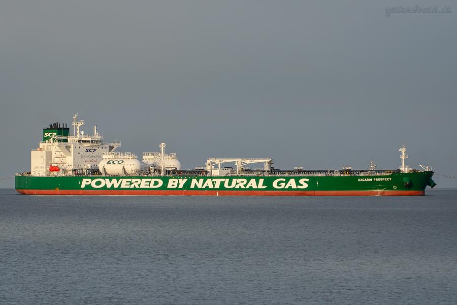 GAGARIN PROSPECT: Erster Aframax-Tanker mit Flüssiggasantrieb in Wilhelmshaven