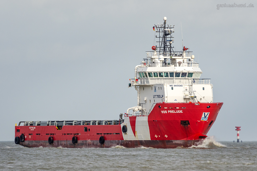 WILHELMSHAVEN AUFLIEGER: Platform Supply Vessel (PSV) VOS PRELUDE inbound