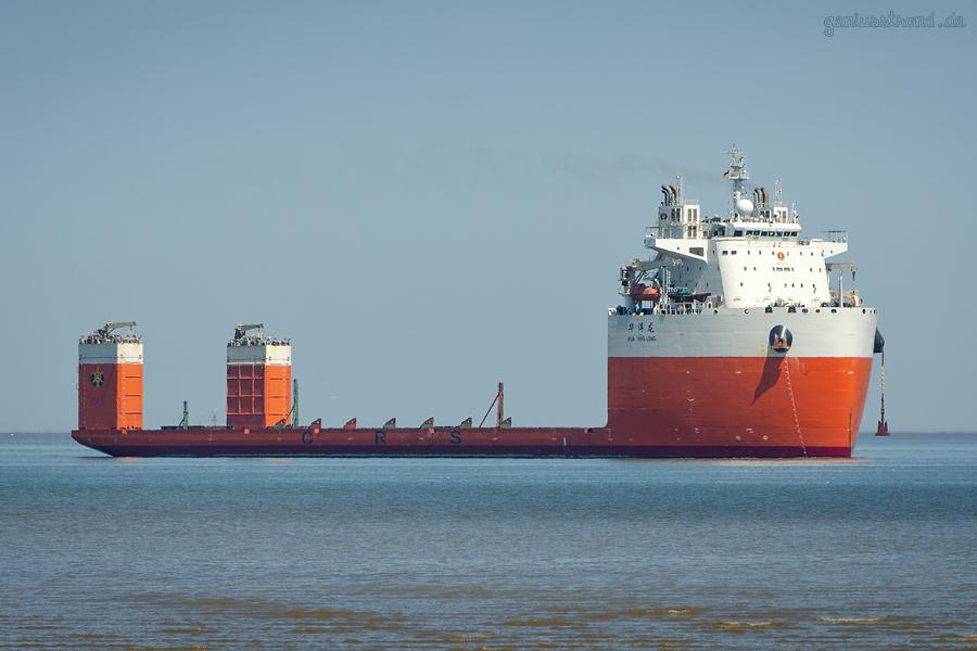 WILHELMSHAVEN: Das Dockschiff HUA YANG LONG ist angekommen