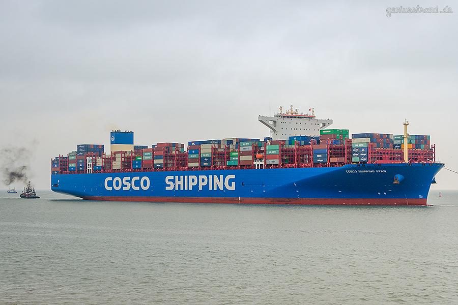 JADEWESERPORT SCHIFFSANKÜNFTE: Containerschiff COSCO SHIPPING STAR