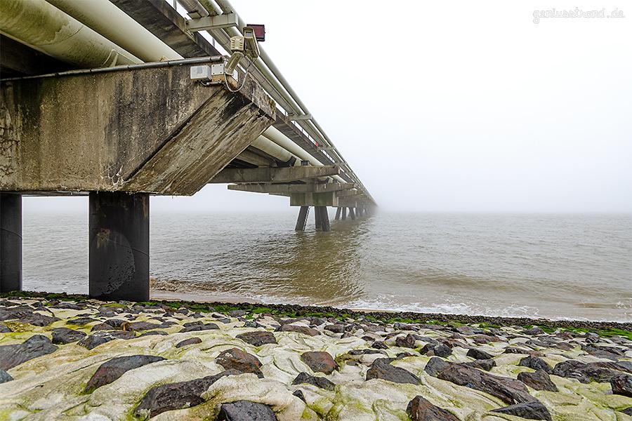 WILHELMSHAVEN: WRG-Brücke (HES-Löschbrücke) im Nebel
