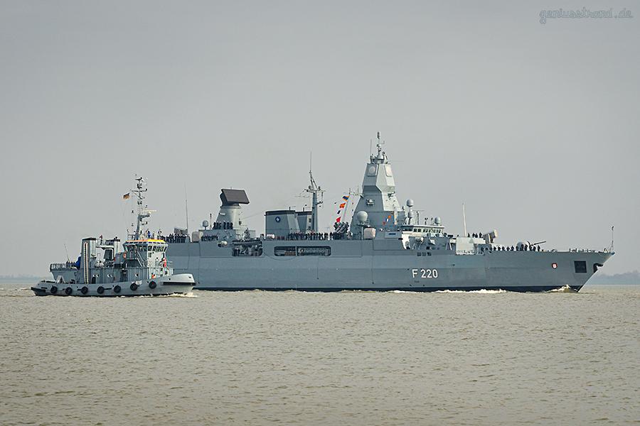 MARINE WILHELMSHAVEN: Fregatte HAMBURG kommt vom NATO-Einsatz zurück