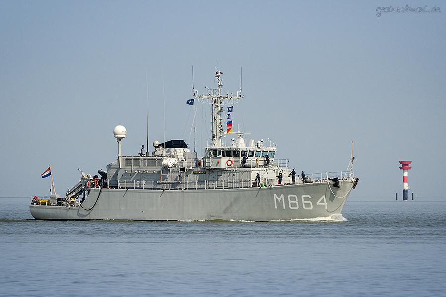 WILHELMSHAVEN: Minenjagdboot HNLMS WILLEMSTAD (M 864)