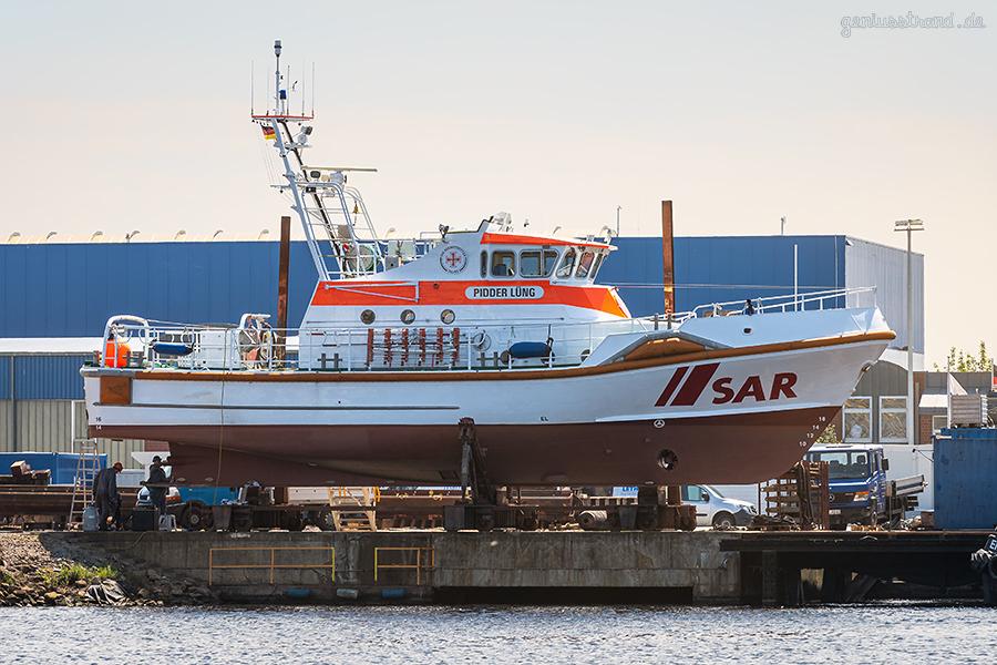 WILHELMSHAVEN: Der Seenotrettungskreuzer PIDDER LÜNG in der Neuen Jadewerft
