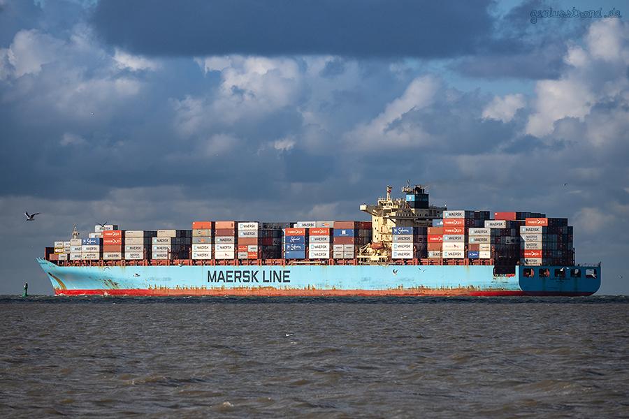JADEWESERPORT Wilhelmshaven: Containerschiff MAERSK SERANGOON
