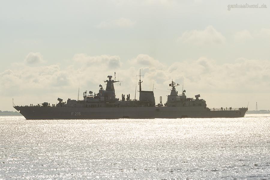 WILHELMSHAVEN:  Fregatte BRANDENBURG läuft zum NATO-Einsatz SNMG 2 aus